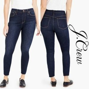 J. Crew Curvy Toothpick Raw Hem Dark Denim 28